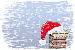 Gelukkige Kerstmis van de Blizzard royalty-vrije illustratie