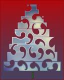 Gelukkige Kerstmisbomen stock illustratie