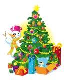 Gelukkige Kerstmisboom Royalty-vrije Stock Fotografie