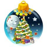 Gelukkige Kerstmisdecoratie Royalty-vrije Stock Fotografie