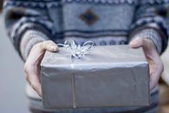 Gelukkige Kerstmisgift stock afbeeldingen
