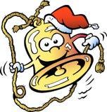 Gelukkige Kerstmisklok Royalty-vrije Stock Foto's
