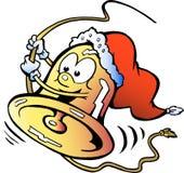 Gelukkige Kerstmisklok Stock Foto's