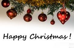 Gelukkige Kerstmisprentbriefkaar Stock Afbeelding