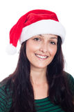Gelukkige Kerstmisvrouw Royalty-vrije Stock Foto's