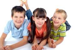 Gelukkige kinderen stock afbeelding