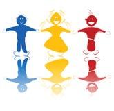 Gelukkige kinderen in kleuren Stock Fotografie