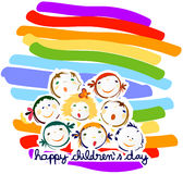 Gelukkige kinderendag Stock Foto