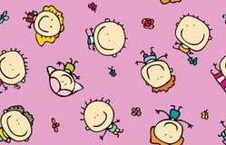 Gelukkige kinderentextuur royalty-vrije illustratie