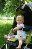 Gelukkige kinderjaren van een babyjongen Stock Foto