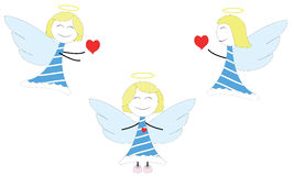 Gelukkige kleine engelen stock illustratie