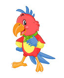 Gelukkige kleurrijke kaketoe Vector illustratie Stock Afbeeldingen