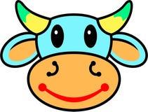 Gelukkige koe Royalty-vrije Stock Afbeeldingen