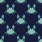 Gelukkige krabben royalty-vrije illustratie