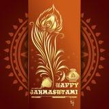 Gelukkige Krishna Janmashtami-achtergrond Royalty-vrije Stock Foto