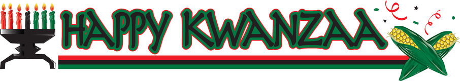 Gelukkige Kwanzaa-Tekst royalty-vrije illustratie