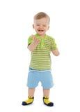 Gelukkige lachende babyjongen Stock Afbeelding