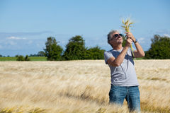 Gelukkige landbouwer. Royalty-vrije Stock Fotografie