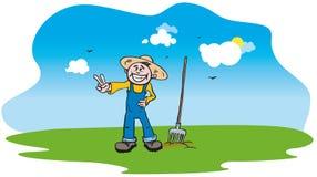 Gelukkige landbouwer Royalty-vrije Stock Fotografie