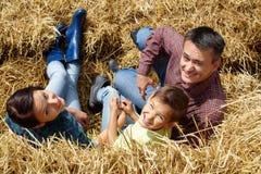 Gelukkige landbouwers Royalty-vrije Stock Afbeeldingen