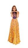 Gelukkige lange vrouwen in kleding Stock Fotografie