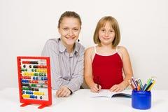 Gelukkige leraar en student Stock Fotografie