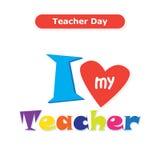 Gelukkige lerarendag stock illustratie