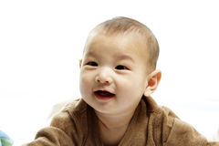 Gelukkige leuke baby Royalty-vrije Stock Foto's