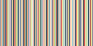 Gelukkige Lijnen naadloze achtergrond, grappige blauwe geeloranje en witte strepen vectortextuur Stock Fotografie