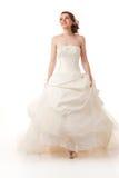 Gelukkige lopende bruid Stock Fotografie