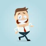 Gelukkige lopende zakenman Stock Foto