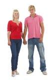 Gelukkige man en vrouw. Stock Foto's