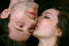 Gelukkige man en vrouw Royalty-vrije Stock Foto