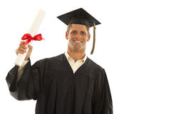 Gelukkige mannelijke gediplomeerde Royalty-vrije Stock Fotografie