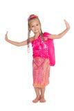 Gelukkige meisje Thaise dans Royalty-vrije Stock Foto's