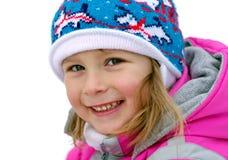 Gelukkige meisje/Wintertijd. stock foto's