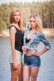Gelukkige meisjes Royalty-vrije Stock Foto