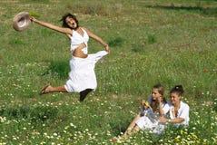 Gelukkige meisjes   Royalty-vrije Stock Afbeelding
