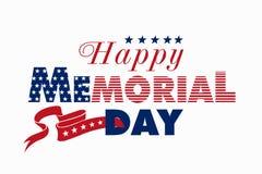 Gelukkige Memorial Day -illustratie stock afbeeldingen