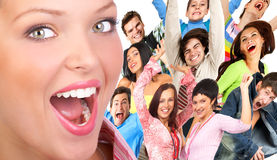 Gelukkige mensen Stock Foto