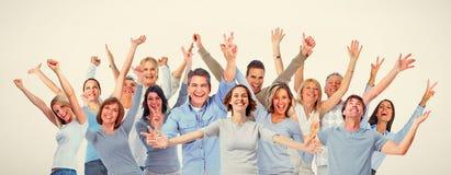 Gelukkige mensen stock afbeelding