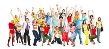Gelukkige mensen Stock Foto's