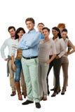 Gelukkige mensen commerciële teamgroep samen Stock Afbeelding