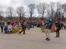 Gelukkige mensen op de dag van Carnaval Royalty-vrije Stock Fotografie