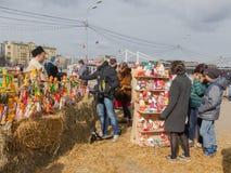 Gelukkige mensen op de grote dag van Carnaval Royalty-vrije Stock Fotografie