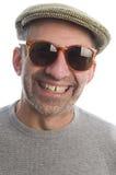 Gelukkige middenleeftijds hogere mens met zonnebril royalty-vrije stock foto