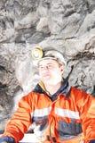 Gelukkige mijnwerker royalty-vrije stock afbeeldingen