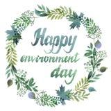 Gelukkige Milieudag stock illustratie