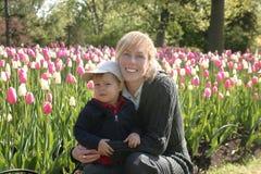 Gelukkige moeder Stock Fotografie