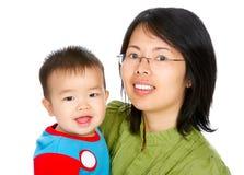 Gelukkige moeder en baby royalty-vrije stock afbeeldingen